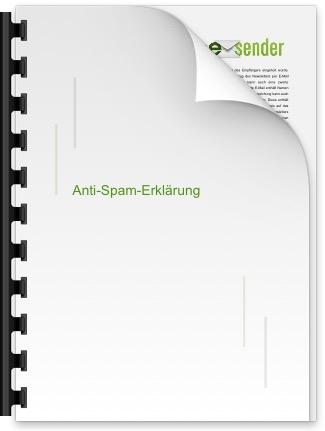 esender Anti-Spam-Erklärung
